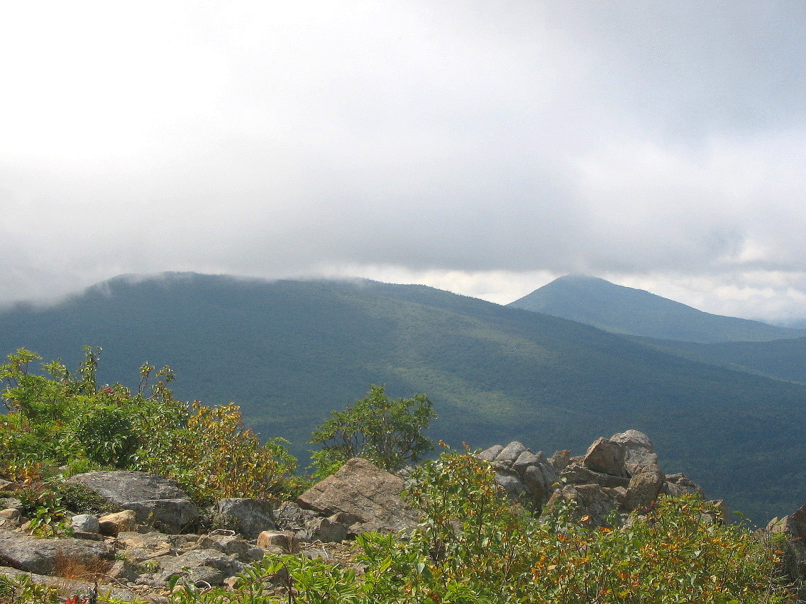 Peakbagging in maine july and august 2005 to the east the land was shrouded in clouds and to the west some of the smaller peaks of the park south branch black cat mountain behind peak of the publicscrutiny Gallery